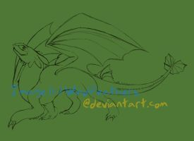 Toothless, the Dragon by Airlesse
