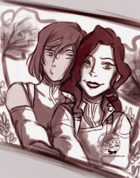 Korrasami Spirit World Date Trip by TaffyDesu