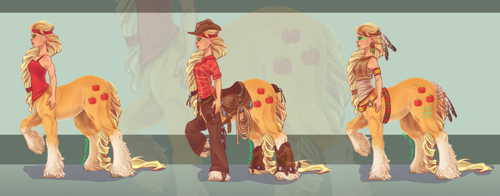 Centaur- Applejack by Joan-Grace