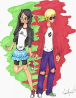 Dave and Jade Colored by kaity-bug