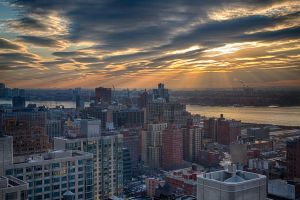 Sunset over Manhattan by arnaudperret