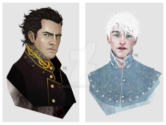 Lord General Kozmotis Pitchiner and Jack Frost. by suisou