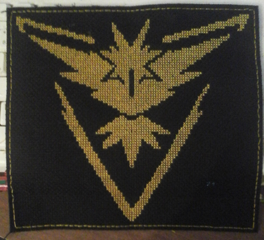 Team Instinct Cross-Stitch by GormKitty