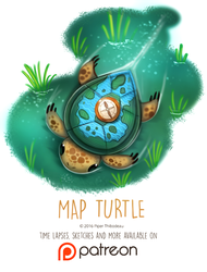 Day 1416. Map Turtle by Cryptid-Creations