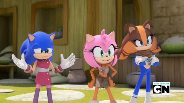 Sonic, Amy and Sticks Head Swap \SwappyShira by SwappyShira