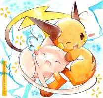 Mew and Raichu