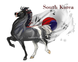 Horse Hetalia:  South Korea by MUSONART