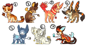 adoptablesssss by Redrie