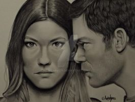 Debra and Dexter Morgan by Mannaz11