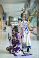 Cosplay: Dynasty Warrior 8 - Shinki + Cai Wenji by yurkary