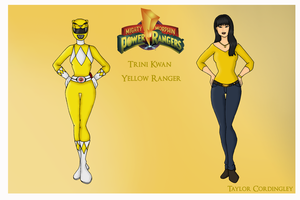 Yellow Mighty Morphin Power Ranger by Femmes-Fatales