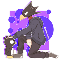Tokoyami and Badtz-maru by GABRIELNGAKO