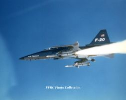 F-20A demonstrates  AIM-7 Sparrow launch ability by fighterman35