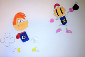 Rayman vs Bomberman by SuperSmash6453