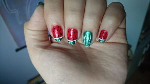 Watermelon nails by Anonymous---Lucifer