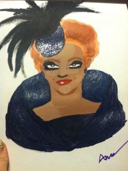 Bianca Del Rio painting. by k78