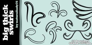 Big Thick Swirls:Brush Set: by naturallady76