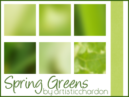 Icon Textures - Spring Greens by jadedlioness