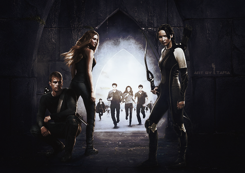 Twilight. Divergent. Hunger Games by Ta-Ra