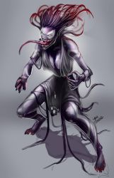 female symbiote concept by glencanlas