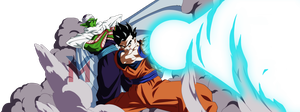 Dragon Ball Super - Gohan, Piccolo (Color) by VictorMontecinos
