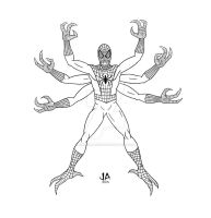 Spider-Doppelganger Digital Ink by JesseAllshouse