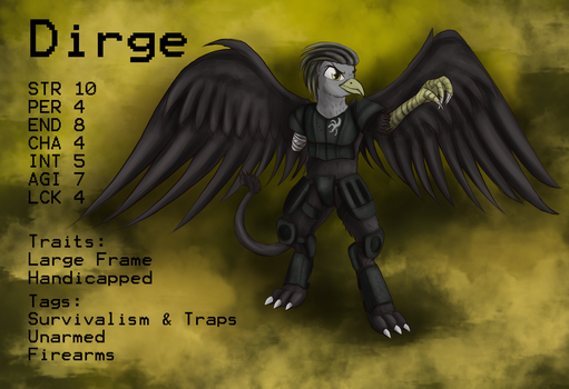 Dirge Character Sheet by deffmobile