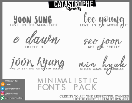 Minimalistic Fonts Pack by xiolei by neverbeentrusted