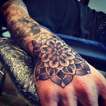 MANDALA HAND TATTOO by Olive 2016 by BPS-TATTOO