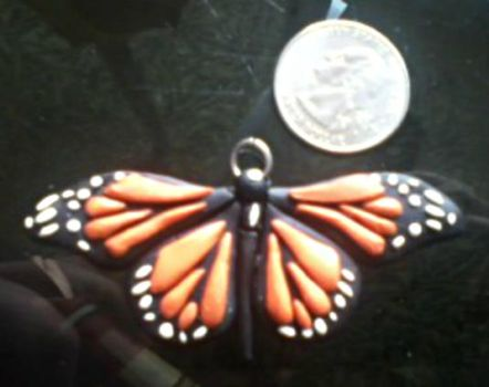Monarch Butterfly Charm by FrostKissXx