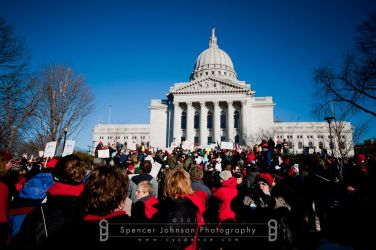 Madison, WI Protests 3 by cyspence