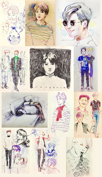 BTS sketches by CatMag