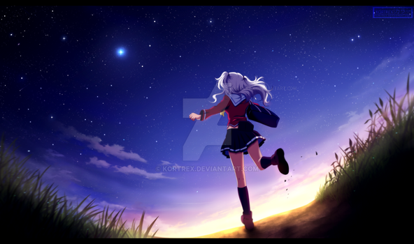 Charlotte - Nao Tomori [commission] 2 by Kortrex