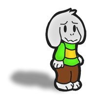 Paper Asriel by Toad900