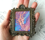 Framed mini painting - Sunset Kirin by thedancingemu
