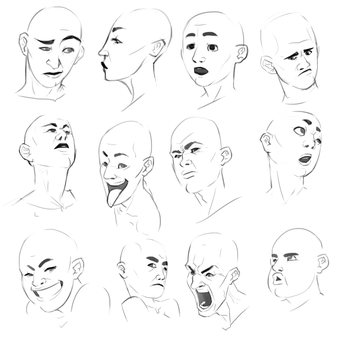 Sketch: Faces by TheNoofel