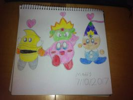 KBY - The Pink Puffball and his Helpers are back! by SuperAwesomeHamtaro