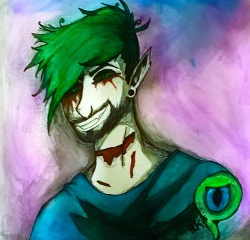 Antisepticeye and Sam :Commission by TheAcrylicKnight