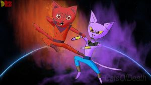 DBZ Cats by Catsofdeath