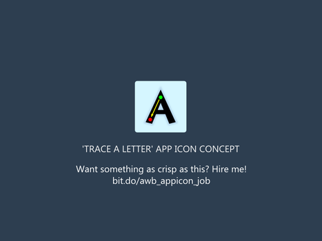 Trace The Letter App Icon By Artworkbean by artworkbean