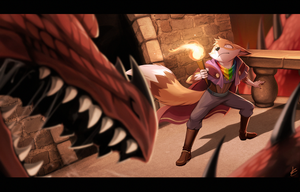 Com: Dragon in a Dungeon by Seyumei