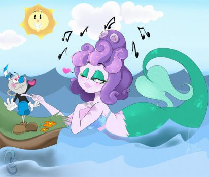 Cala Maria x Mugman Commish by Okeanos-Heart