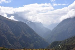 View down Khumbu valley by IGhengisKhanI