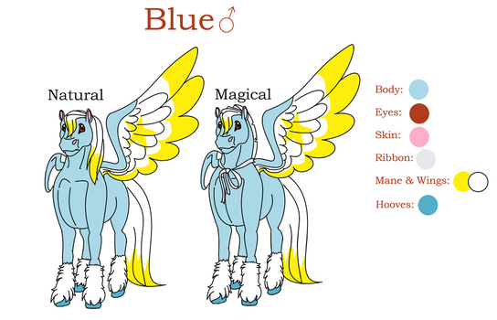 Blue Reference Sheet 2018 by MelodicDragon