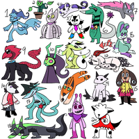 50 point monster adopts [10/20 OPEN] by MysteryBerry