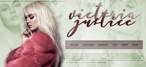 VICTORIA JUSTICE FREE HEADER/DESIGN by designsbyroth