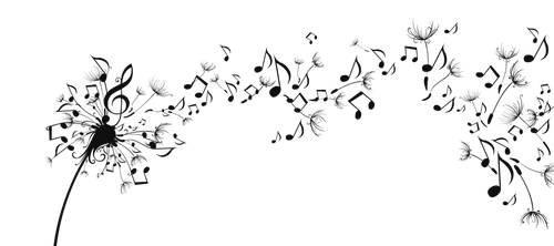 Musical Note In The Breeze PNG by HanaBell1