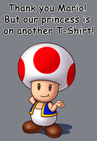 T-Shirt - Thank you Mario! But... by IndigoWildcat