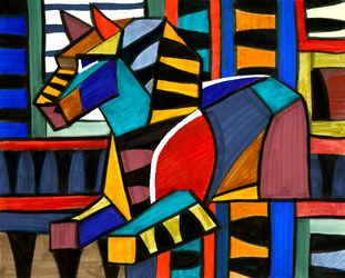 Quilted Horse by OnTheMountainTop