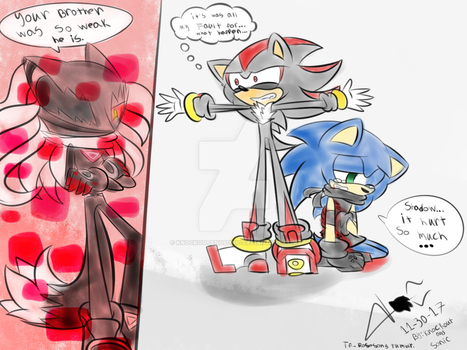 Don't Hurt my Brother!! by knockoutandsonic